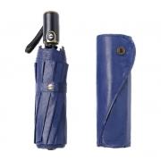 NIELLO 皮面全自动商务雨伞 三折晴雨伞 加大防风太阳伞 一键开收加固高端礼品伞