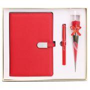 笔记本+签字笔+康乃馨三件套礼盒装 教师节小礼品