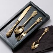 复古宫廷风高档西餐餐具四件套礼盒装 酒店开业礼品