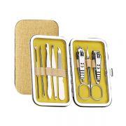 布艺皮包八件套美甲工具 指甲刀指甲剪套装 活动送什么礼品吸引人