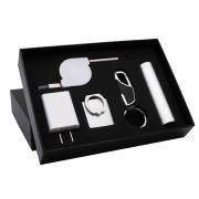 创意钥匙扣+充电宝+指环支架+数据线+插头实用商务套装 比较实用的小礼品