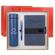 智能数显保温杯+签字笔+笔记本三件套 公司五周年礼品定制